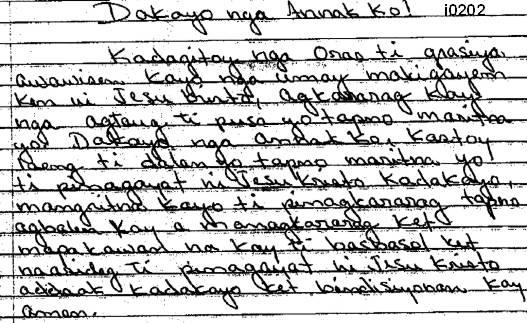 Ilocano messages