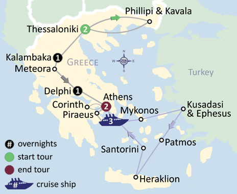 Greece Land Map