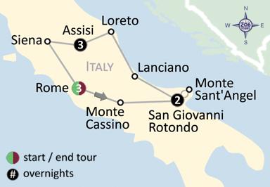 San Giovanni Rotondo Italy Map.Shrines Of Italy Medjugorje Web